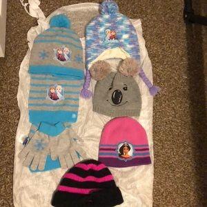 Girls Disney, & OldNavy Winter Hats